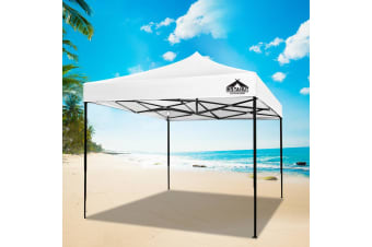 Pop Up Gazebo 3x3 Outdoor Tent Folding Wedding Marquee Gazebos White