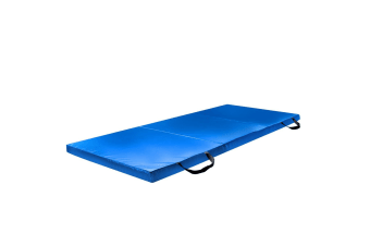 180x60x5cm Foldable Yoga Pilates Aerobic Mat - Blue