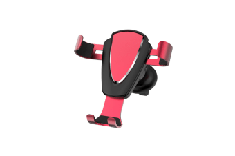Metal Car Air Outlet Mobile Phone Anti-Skid Mobile Phone Bracket - Red Red