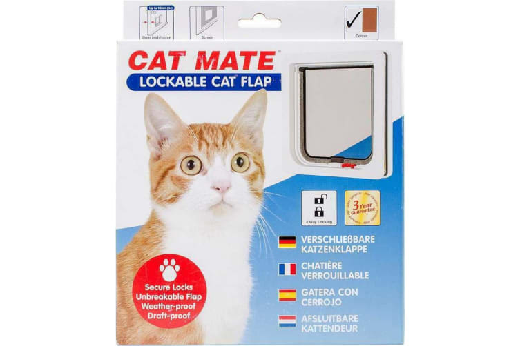 Cat Mate Lockable Cat Flap (Transparent) (One Size)