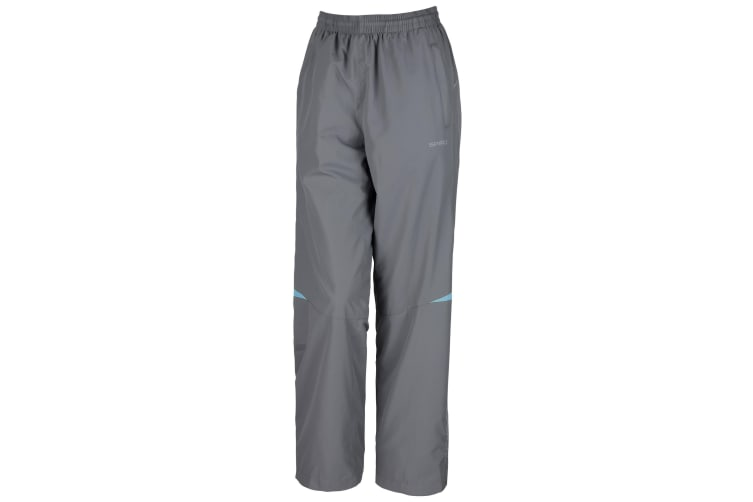 Spiro Womens/Ladies Micro-Lite Performance Sports Pants / Tracksuit Bottoms (Grey/Aqua) (S)