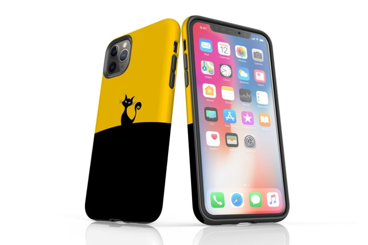 For iPhone 11 Pro Max Case  Protective Back Cover  Black Cat
