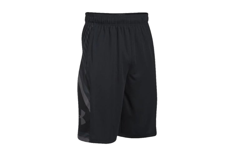 Under Armour Men's Space the Floor Shorts (Black, Size Small)