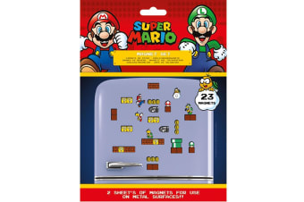 Super Mario Fridge Magnets (Pack of 23) (Multicoloured)