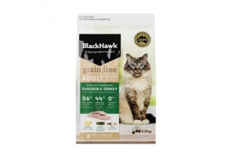 Black Hawk Feline Grain Free Chicken Turkey - 2.5kg