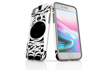 For iPhone 8 Shielding Back Case  Zebra