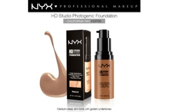 Nyx Hd Studio Photogenic Foundation #Hdf08 California Tan Wrinkle Reduction
