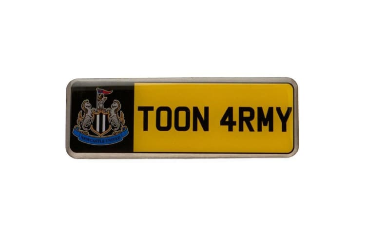 Newcastle United FC Number Plate Badge (Yellow) (One Size)