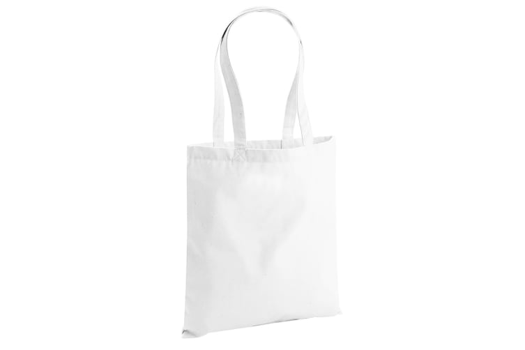 Westford Mill EarthAware Organic Bag For Life (10 Litres) (Pack of 2) (White) (One Size)