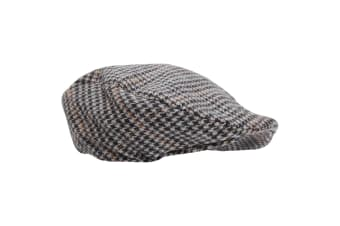 Mens Tweed Wool Blend Flat Cap (Design 5)