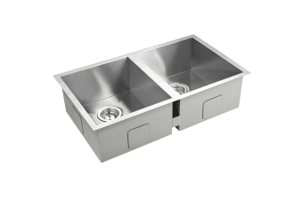 Stainless Steel Kitchen/Laundry Sink with Strainer Waste 770 x 450 mm