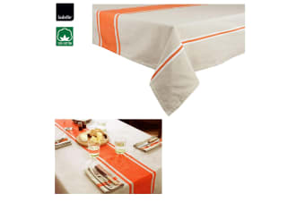 Nanterre Tablecloth 8 to 10 Seater Oblong 150 x 265 cm Orange by Ladelle