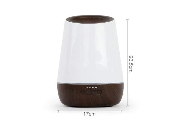 4 in 1 Ultrasonic Aroma Diffuser Round 500ml (Dark Wood)