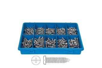 360 PCE STAINLESS STEEL PHILIPS SELF TAP PAN HEAD ASSORTMENT FASTENER KIT 102701