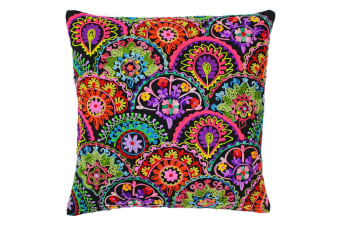 Paoletti Neon Fans Cushion Cover (Black/Neon)