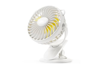 Clip Fan Usb Desktop Office Fan Mini Dormitory Fan - White White 18X11X19Cm