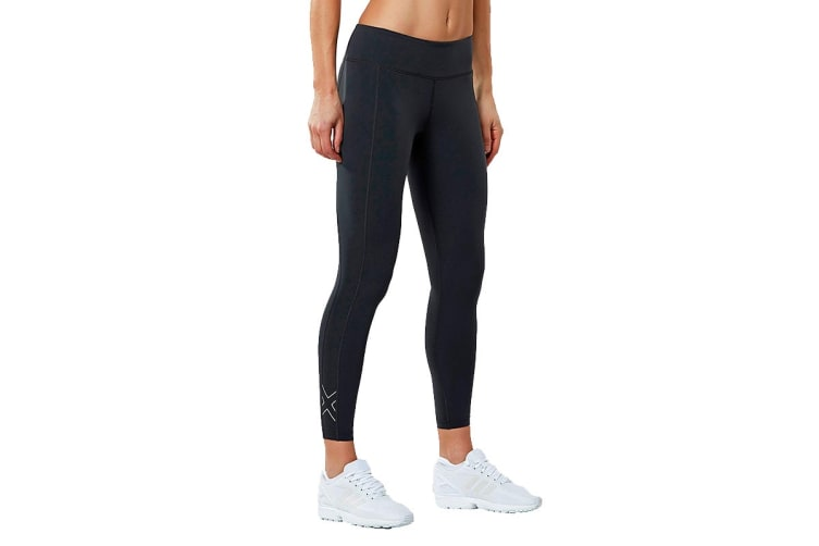 2XU Women's Active Compression Tights (Dark Charcoal/Silver, Size L)