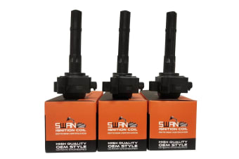 Pack of SWAN Ignition Coils & NGK Spark Plugs for Toyota Camry/Vienta (3.0L)