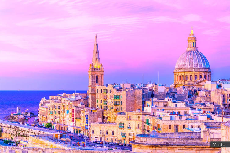 MALTA & GREECE: 17 Day Malta Tour & Greek Island Cruise Including Flights for Two (Oceanview Cabin)