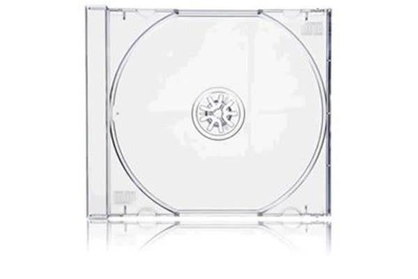 Imatech CD Jewel Case Single Clear Cover with Clear Tray 200 pcs per carton - 10CD01CL