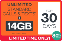 Kogan Mobile Prepaid Voucher Code: EXTRA LARGE (30 Days | 14GB)