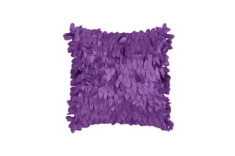 Izzy Filled Cushion Purple by Logan and Mason