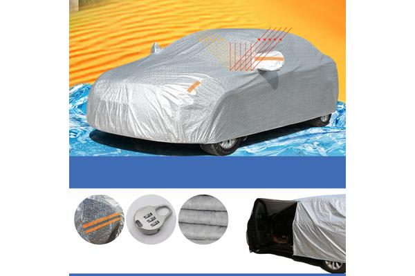 Aluminum waterproof 3 Layers Double Thick car cover