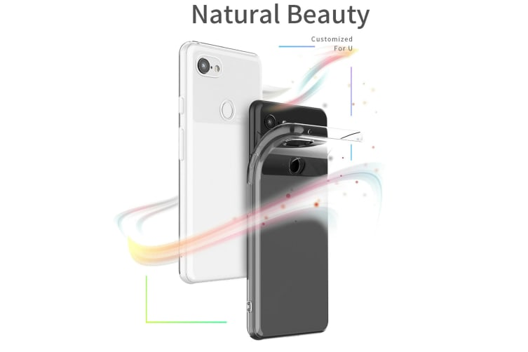 Google Pixel 3a Ultra Slim Premium Crystal Clear TPU Gel Back Case by MEZON – Shock Absorption, Wireless Charging Compatible – With Screen Protector (Pixel 3a, Gel)