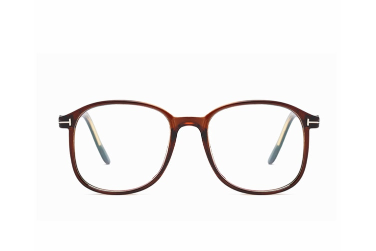 Myopia Optical Glasses Frame Eyeglasses Spectacles - 2 Brown 600 Degrees