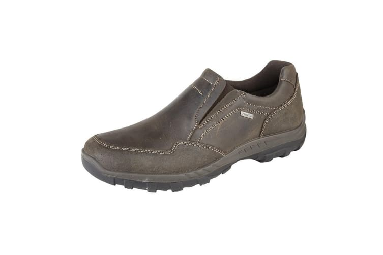 IMAC Mens Waxy Leather Water Resistant Casual Shoes (Brown) (10 UK)