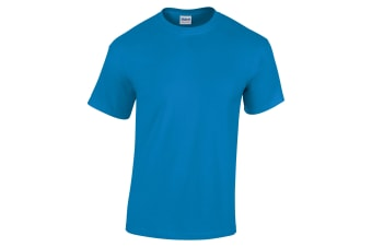 Gildan Mens Heavy Cotton Short Sleeve T-Shirt (Sapphire) (M)