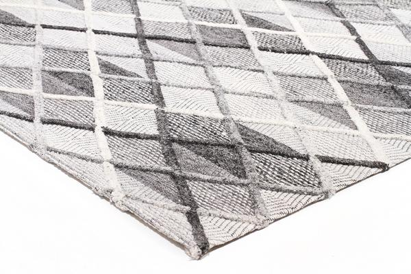 Winter Grey Gravel Modern Rug 225X155cm