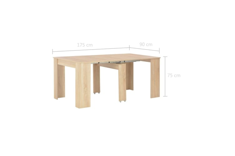 vidaXL Extendable Dining Table Sonoma Oak 175x90x75 cm