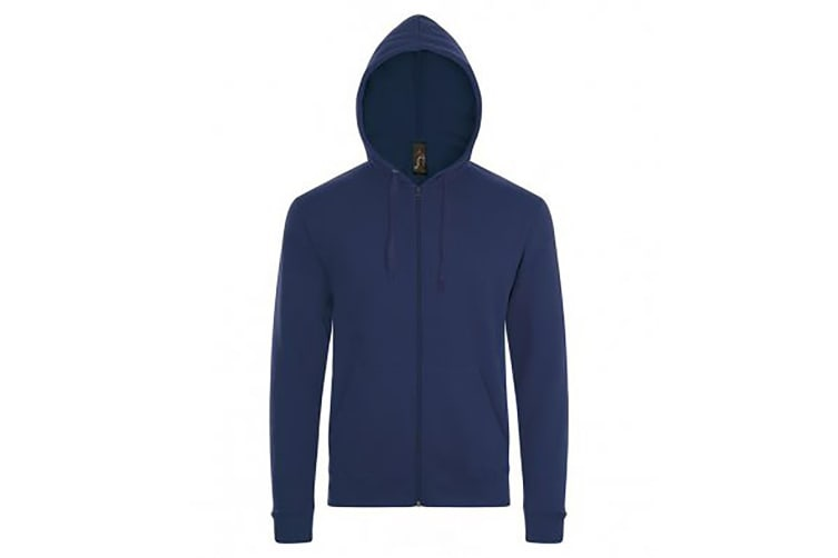 SOLS Mens Stone Zip Up Plain Hoodie (French Navy) (L)
