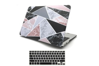 "Marble Frosted Matte Hard Case with Free Keyboard Cover for MacBook Pro 13"" 2016-2018 A1706 A1989 (With Touch Bar)-Irregular Mable"