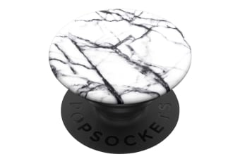 Pop Sockets Grip Universal Swappable Holder Dove White Marble w/ Base for Phones