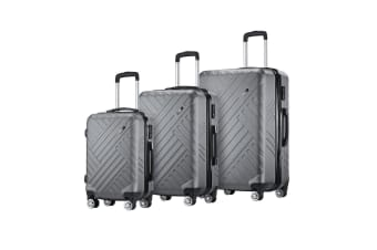 "Buonviaggio 3PC Luggage Suitcase Trolley Set TSA Storage Organizer 20"" 24"" 28"""