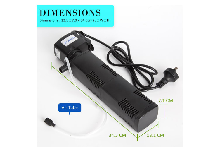 1600L/H 22W 2.5m Aquarium Submersible Filter Pond Pump
