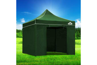 Pop Up Gazebo 3x3m Folding Wedding Marquee Tent Gazebos Shade Green