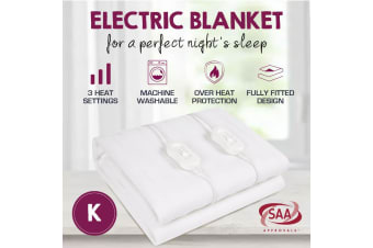 King Size Fully Fitted Non Woven Electric Blanket Heated Pad