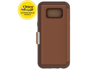 Otterbox Strada Folio Case/Cover/Leather Protector for Samsung Galaxy 8+ Brown
