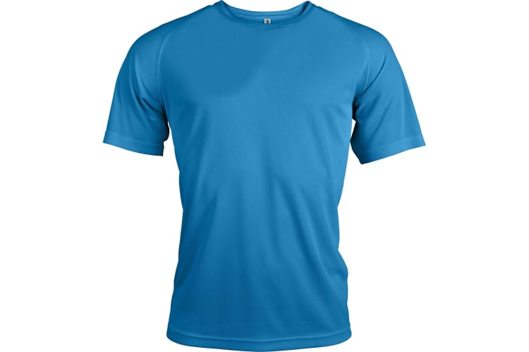 Kariban Mens Proact Sports / Training T-Shirt (Aqua) (XL)