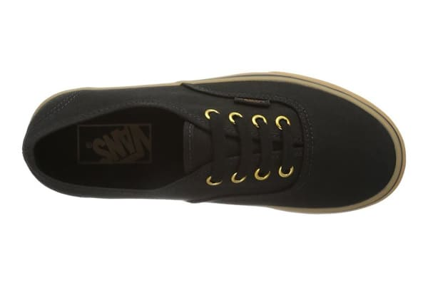 Vans Authentic Unisex Sneakers (Black Rubber Gum, Size 7.5)