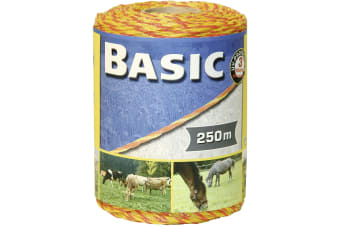 Basic Fencing Stainless Steel Polywire (Yellow/Orange) (250m)