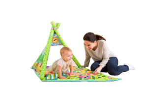 Lamaze 4in1 Play Gym Activity Mat Tummy Time Baby/Infants/Toddler w/Mirror/Toys