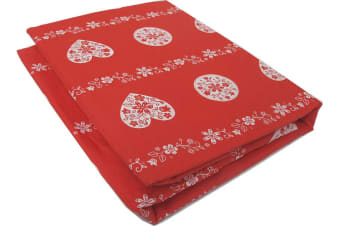 HEARTS Sheet Set Red SINGLE by Accessorize