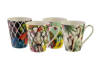 Bundanoon Conical Mug 400ml Set of 4 Cockatoo