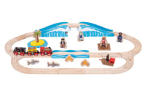 Bigjigs Pirate Train Set - 42pcs