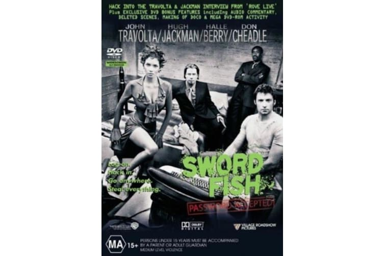Swordfish  - Rare- Aus Stock DVD  PREOWNED: DISC LIKE NEW