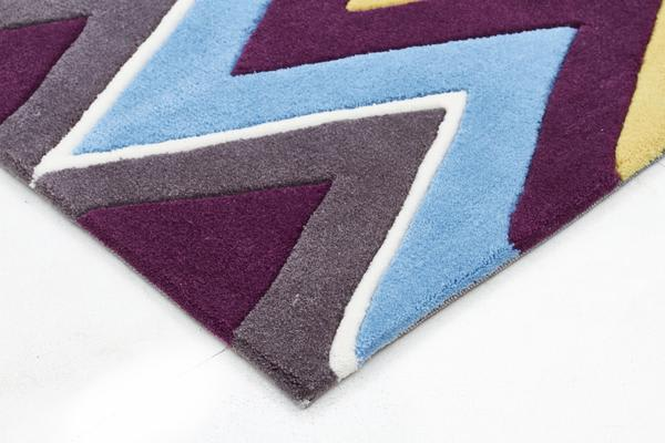Eclectic Chevron Rug Multi Coloured 225x155cm